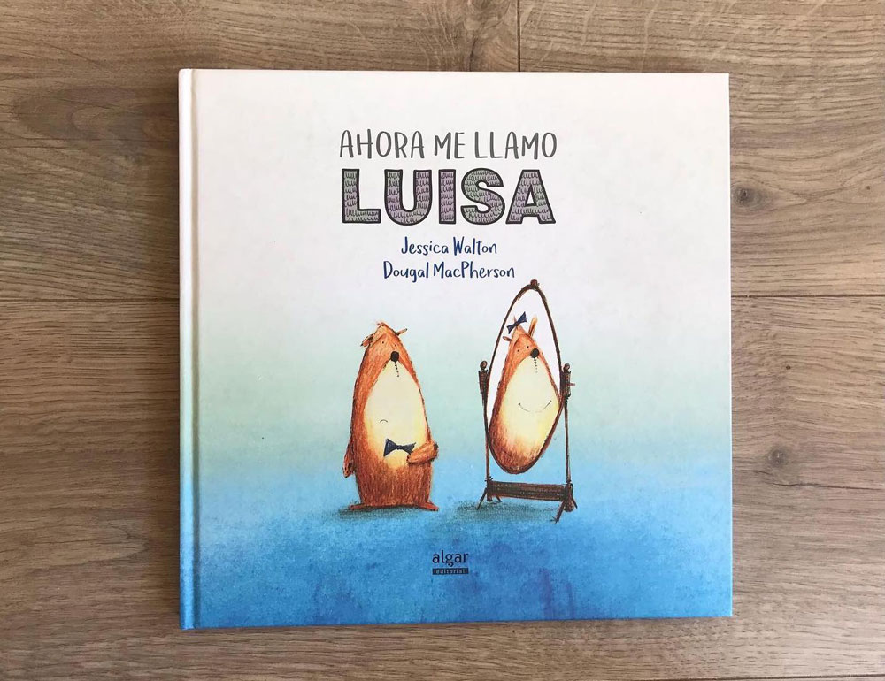 """Photo of a book titled """"AHORA ME LLAMO LUISA"""" by Jessica Walton and Dougal MacPherson"""