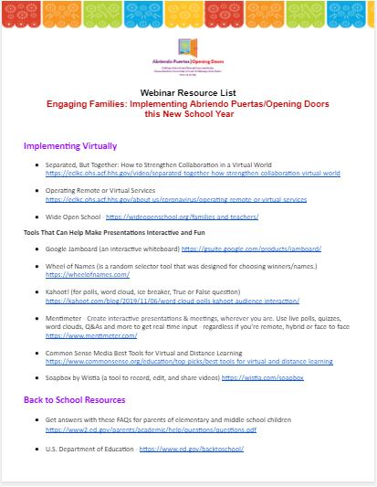 Click on the image to download the resource list